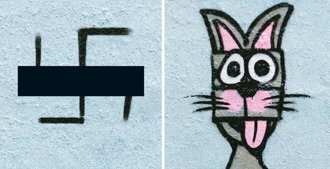 Ảnh: Biến biểu tượng phát xít Đức thành hình vẽ hài hước và sáng tạo - Ảnh 6.