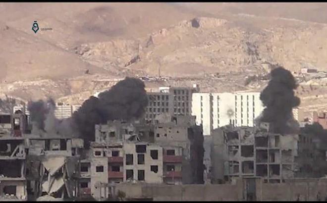 Trừng trị phiến quân, không quân Syria dìm Đông Ghouta trong biển lửa