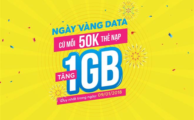 """Không ngừng mở rộng và nâng cấp các ưu đãi trong thời đại công nghệ,  VinaPhone tung ra ưu đãi """"Ngày vàng Data"""": Cứ mỗi 50.000 VNĐ nạp thẻ trong  ngày ..."""