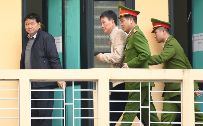 Hình ảnh các bị cáo Đinh La Thăng, Trịnh Xuân Thanh, Nguyễn Xuân Sơn trong ngày xét xử thứ 3