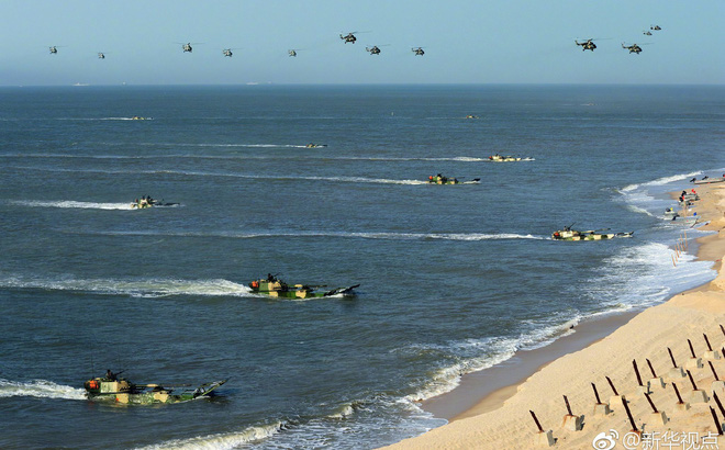 Nguy hiểm đơn vị đổ bộ đường biển của... Lục quân Trung Quốc