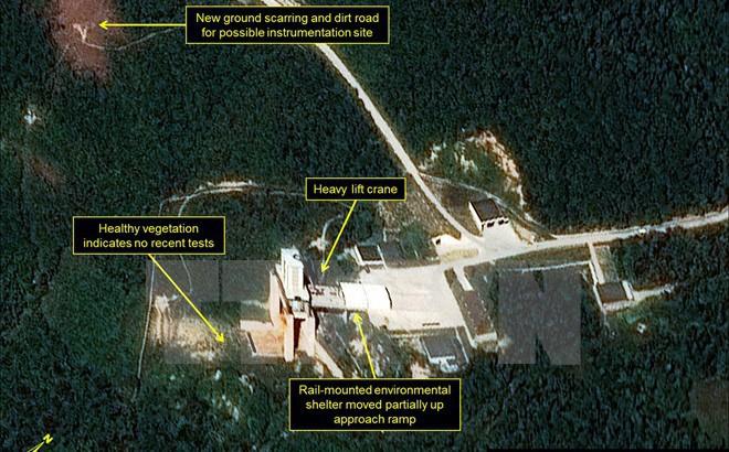 Triều Tiên tiến hành đào hầm có thể chuẩn bị thử bom hạt nhân