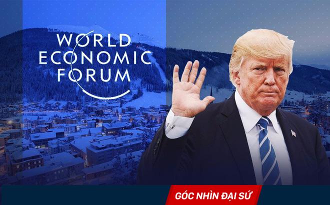 """Lần đầu tiên sau 18 năm, Tổng thống Mỹ lại """"thổi hơi nóng"""" vào mùa đông Davos"""