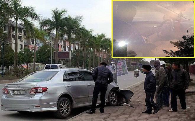 Thực hư CSGT nghi say rượu lái xe đâm vào cột đèn ở Hà Nội