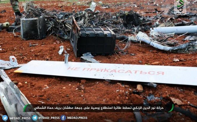 Máy bay trinh sát Nga bị phiến quân bắn hạ, tan xác ở Hama