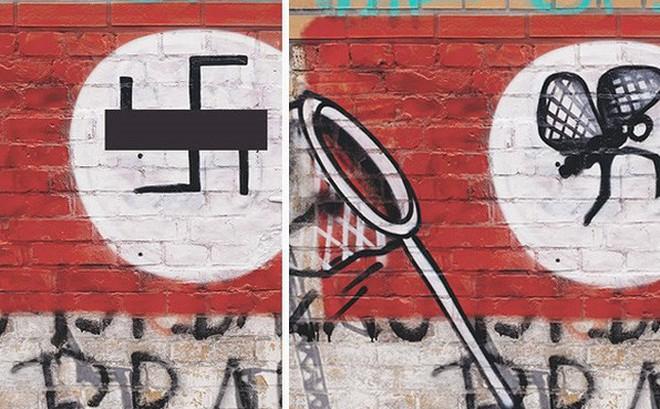 Ảnh: Biến biểu tượng phát xít Đức thành hình vẽ hài hước và sáng tạo
