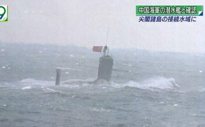 Nhật khẳng định tàu ngầm xuất hiện gần Senkaku là của Trung Quốc