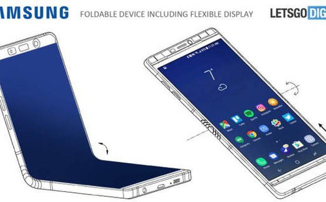 Rò rỉ thiết kế của Galaxy X: Màn hình 7,3 inch, gập đôi lại được như ví