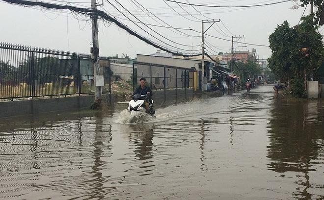 Trời không mưa, người dân vẫn bì bõm lội nước