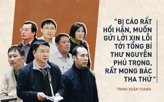"""(Video) Xét xử ông Đinh La Thăng và Trịnh Xuân Thanh: """"Màn trình diễn tập thể của lời cầu xin và nước mắt"""""""