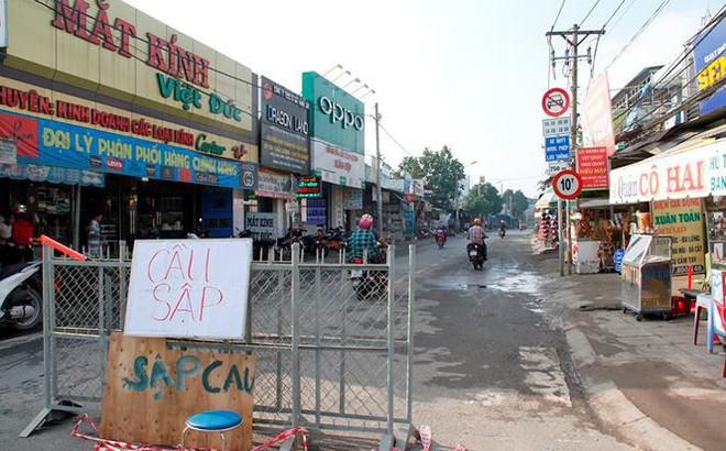 TPHCM điều chỉnh giao thông sau sự cố sập cầu Long Kiểng
