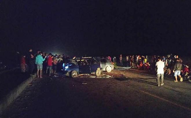 Ô tô gây tai nạn liên hoàn, một công an tử vong tại chỗ
