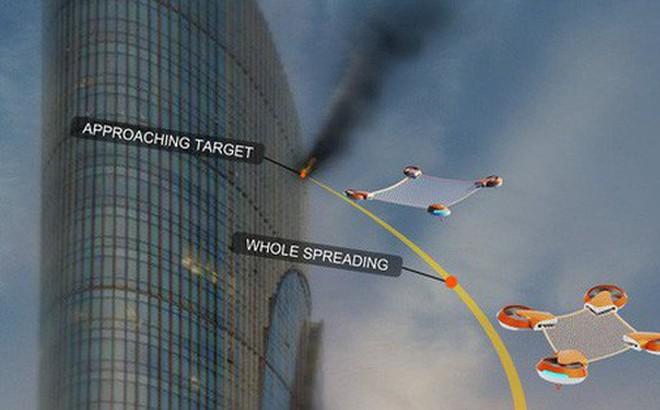 Lưới cứu nạn không người lái Net Guard - giải pháp cho những sự cố hỏa hoạn trên cao