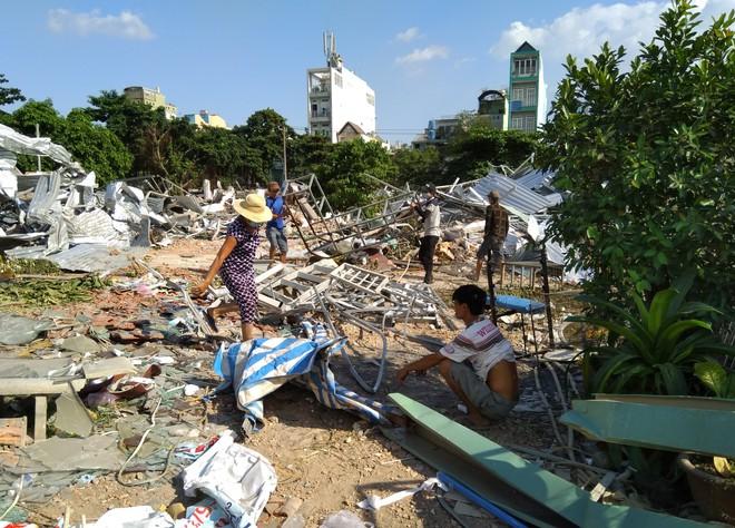 [ẢNH]: Khu đất vườn rau Lộc Hưng ở Tân Bình bị cưỡng chế, tan hoang như bình địa - Ảnh 4.