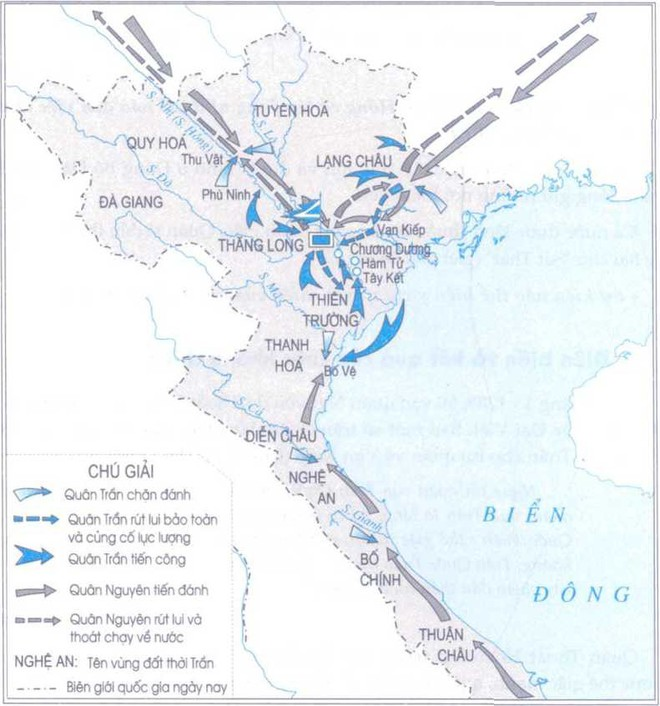 Lược đồ cuộc kháng chiến lần thứ 2 chống quân Nguyên ( 1285)