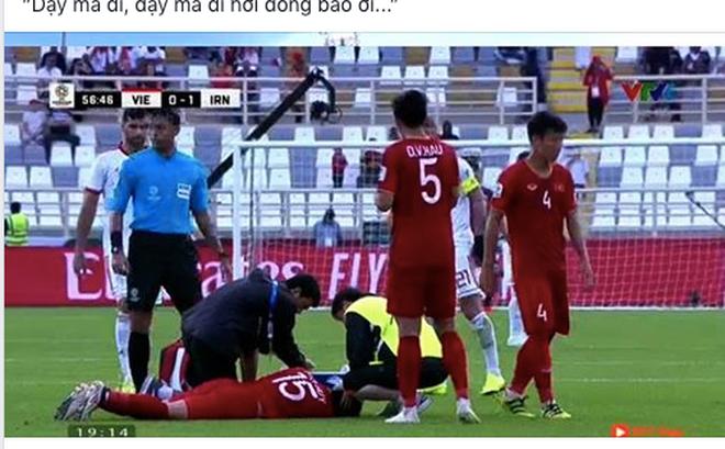 """""""Dậy mà đi hỡi đồng bào ơi"""", câu hát được chia sẻ liên tục sau trận đấu giữa Việt Nam - Iran"""