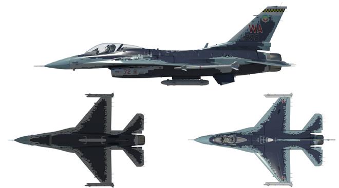 Chim Ưng F-16 đội lốt tiêm kích tàng hình Su-57: Mục tiêu cho Không quân Mỹ tập bắn - Ảnh 1.