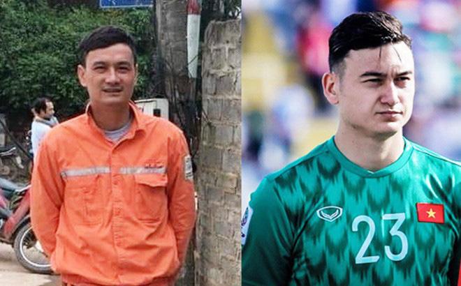 Dân mạng phát hiện Đặng Văn Lâm phiên bản 'thợ điện', dáng đứng, khuôn mặt giống như tạc