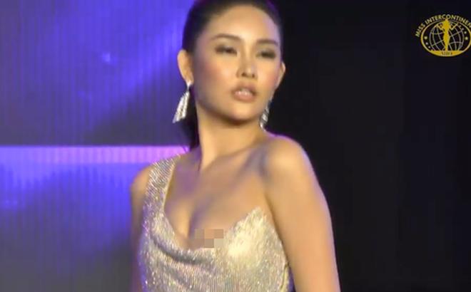 Lê Âu Ngân Anh gặp sự cố nhạy cảm khi thi Hoa hậu Liên lục địa
