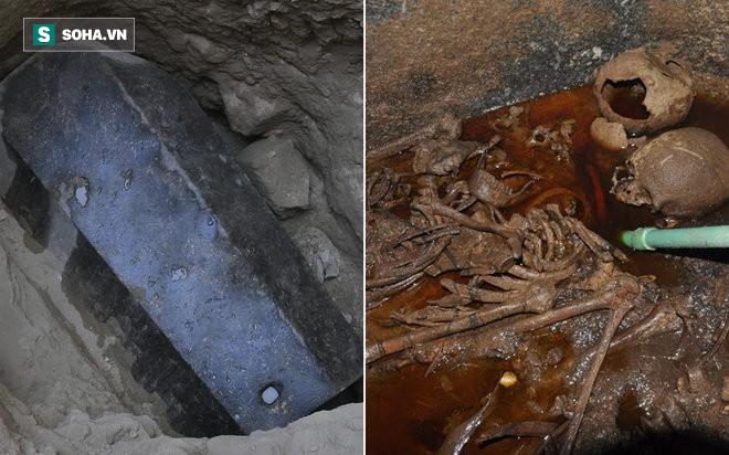 Phát hiện khảo cổ dị nhất 2018: Quan tài nặng gần 30 tấn chứa hài cốt, chất lỏng kỳ lạ - Ảnh 1.