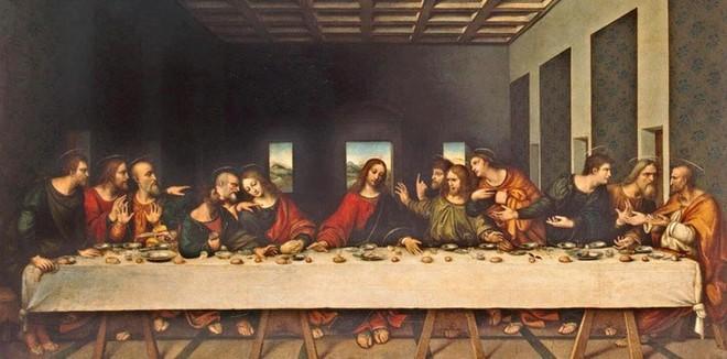 Phát hiện mật mã đáng sợ trong bức họa Bữa ăn tối cuối cùng của Da Vinci - Ảnh 1.