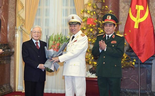 Phong quân hàm Đại tướng cho Bộ trưởng Tô Lâm và Chủ nhiệm Tổng cục chính trị Lương Cường
