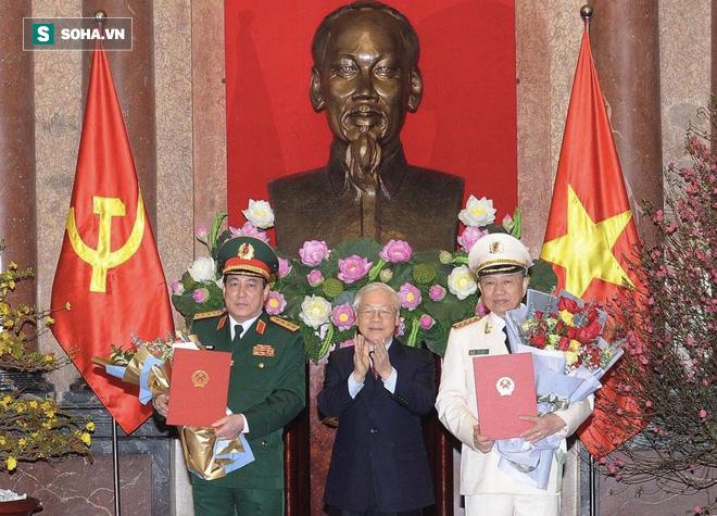 Phong quân hàm Đại tướng cho Bộ trưởng Tô Lâm và Chủ nhiệm Tổng cục chính trị Lương Cường - Ảnh 1.