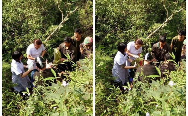 Chuyện hy hữu ngày 26 Tết ở Hà Giang: Bác sỹ đỡ đẻ cho thai phụ dưới khe núi sâu 10m