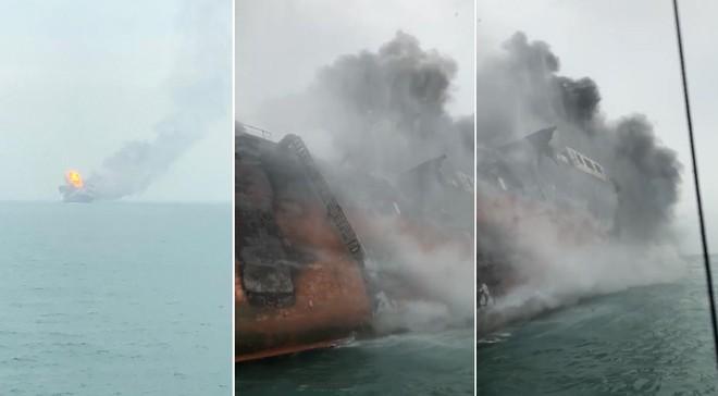 Cận cảnh tàu chở dầu treo cờ Việt Nam sau khi cháy ngùn ngụt ngoài khơi Hong Kong - Ảnh 2.