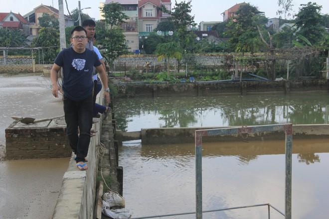 Phát hiện nhà máy nước xả bùn thải phủ kín mặt hồ điều hòa ở Nghệ An - Ảnh 2.