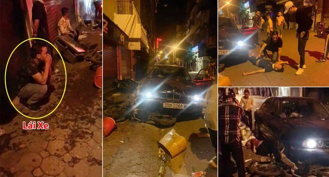 Xe BMW đâm liên hoàn trên phố Hà Nội: Các phương tiện nằm la liệt, tài xế ôm mặt thất thần - Ảnh 1.