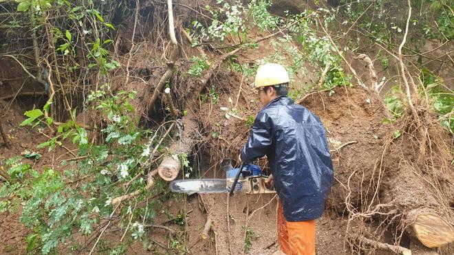Sạt lở hơn 100m đường, 300 nhà dân chìm trong biển nước, nguy cơ vỡ đập thủy lợi ở Đắk Lắk - Ảnh 6.