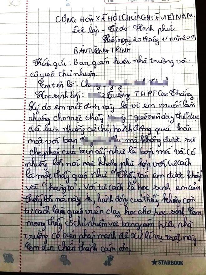 Diễn biến bất ngờ vụ thầy giáo bị tố nói thầy tán em được không với nữ sinh - Ảnh 1.