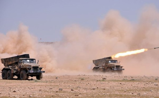Sư đoàn cơ giới số 4 Syria tiếp tục thiêu hủy chiến tuyến của khủng bố ở Idlib