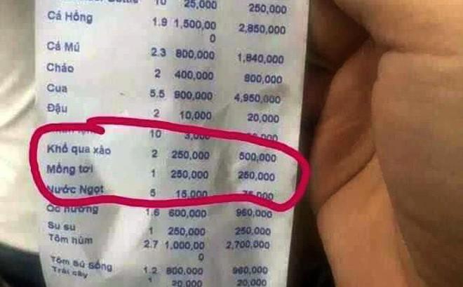 """Bị tố """"chặt chém"""" 250.000 đồng một đĩa mồng tơi, nhà hàng lý giải là mồng tơi xào bò"""