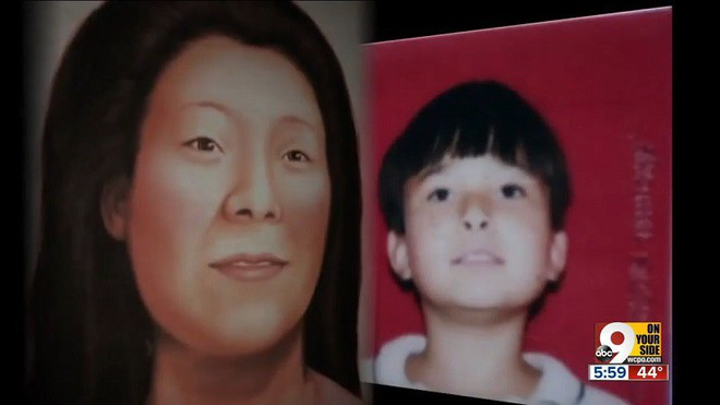 Chân dung bé trai bị sát hại và phác họa chân dung mẹ của nạn nhân. (ảnh: ABC)