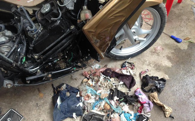 Mang xe máy đi sửa, người đàn ông hoảng hốt khi thấy những món đồ bị mất bỗng xuất hiện