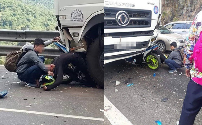 Hiện trường tai nạn vừa xảy ra ở đèo Bảo Lộc, dáng nằm của nạn nhân gây ám ảnh nhất