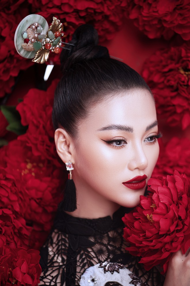 Hoa hậu Trái đất Phương Khánh khoe vai trần quyến rũ - ảnh 6