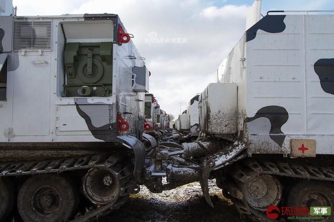 Quái thú Tor-M2DT của Hạm đội Phương Bắc Nga thị uy tại Bắc Cực - ảnh 6