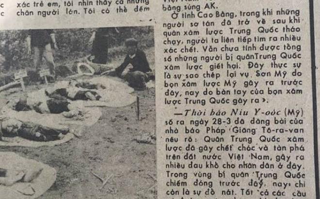 Báo QĐND 1979: Những hình ảnh phóng viên Nhật Bản chứng kiến trong cuộc chiến tranh Biên giới