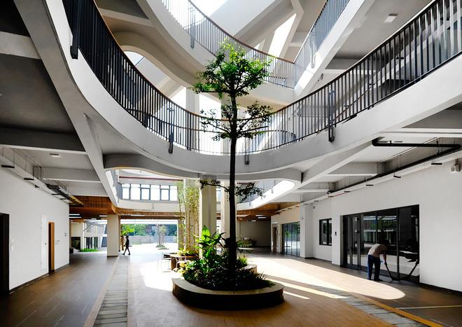 Ngôi trường đầy màu sắc có lối kiến trúc độc đáo bậc nhất Việt Nam - Ảnh 11.