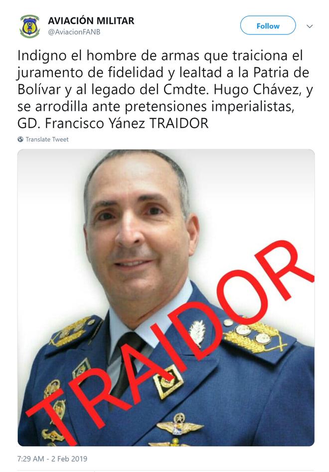 Tướng không quân cấp cao Venezuela tuyên bố từ bỏ TT Maduro, về phe Tổng thống lâm thời tự xưng - Ảnh 1.