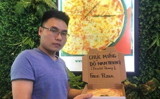 Nhà hàng Hà Nội tặng 1.000 bánh pizza miễn phí cho khách tên Đỗ Nam Trung - Donald Trump