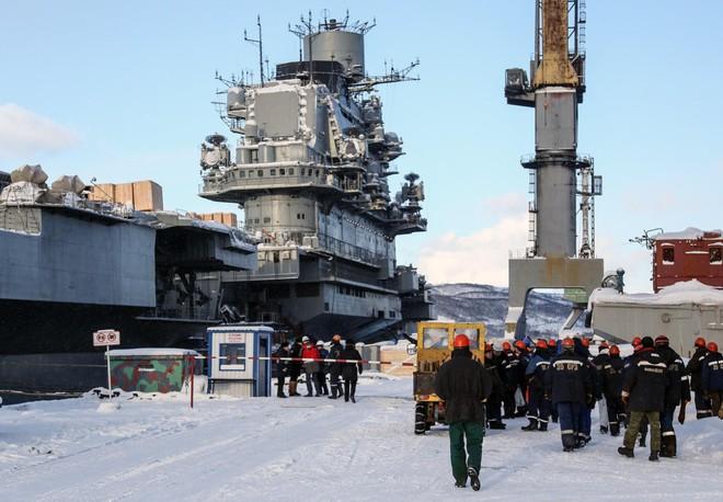 Tàu sân bay Đô đốc Kuznetsov thoát cảnh loại biên sớm sau tai nạn chìm ụ nổi - Ảnh 1.