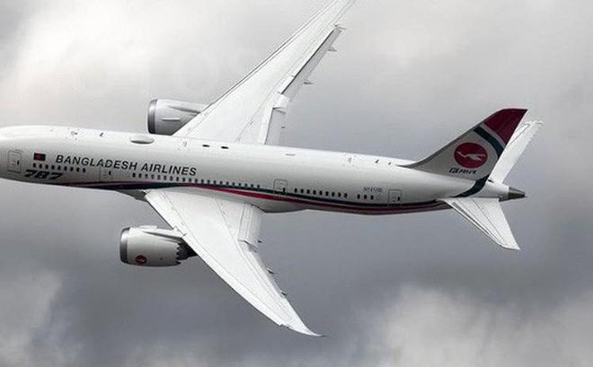 Một chiếc máy bay của hãng hàng không Biman Bangladesh Airlines. Ảnh: Gulf News