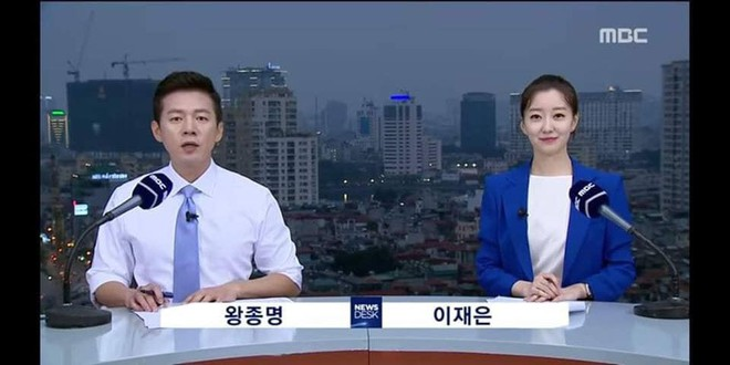 """Dân mạng """"chộp"""" được cảnh tạm bợ của đài truyền hình Hàn Quốc trên nóc nhà cao tầng ở Hà Nội  - Ảnh 3."""