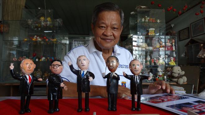 Thầy giáo tạo hình lãnh đạo Donald Trump và Kim Jong-un bằng vỏ trứng  - Ảnh 8.