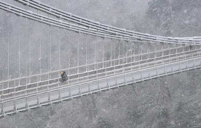 7 ngày qua ảnh: Người Nga tắm nước đá băng giữa trời tuyết trắng - Ảnh 3.