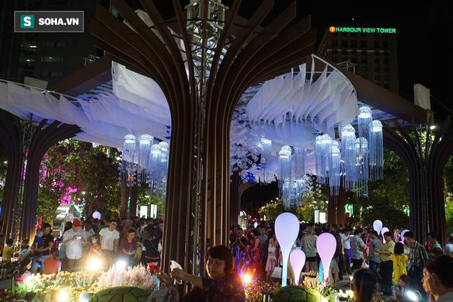 Người Sài Gòn đổ về trung tâm chờ xem pháo hoa đón giao thừa Tết Kỷ Hợi 2019 - Ảnh 10.